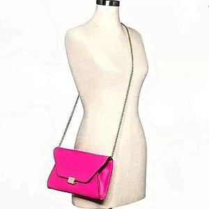 Women's Fuchsia Envelope Clutch Bag Purse